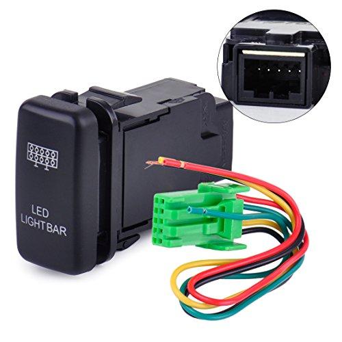 Preisvergleich Produktbild beler 12V Blau LED Lichtleiste EIN / Aus Druckschalter