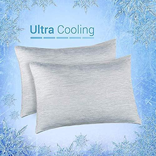 Elegear--Funda de Almohada de Refrescantes, Q-MAX Japonés 0,4 Fibra de Enfriamiento, Funda Protege...
