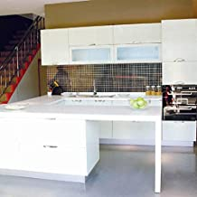 KINLO 0.61 x 5M PVC Papel Pegatina Autoadhesivo de Mueble de Cocina / Puerta del Armario de Pared Pintado Adhesivo para Muebles - Blanco