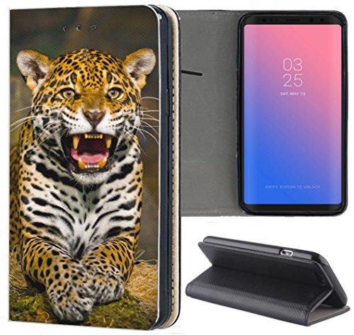 Samsung Galaxy S3 / S3 Neo Hülle Premium Smart Einseitig Flipcover Hülle Samsung S3 Neo Flip Case Handyhülle Samsung S3 Motiv (1502 Tiger Gelb Weiß Afrika) Logo Samsung S3 Case