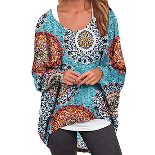 Riou Damen Langarm Pullover Oversize Locker Langarmshirt Sweatshirt Herbst Fledermaus Batwing Shirt Causal Oberteil Basic Tee -