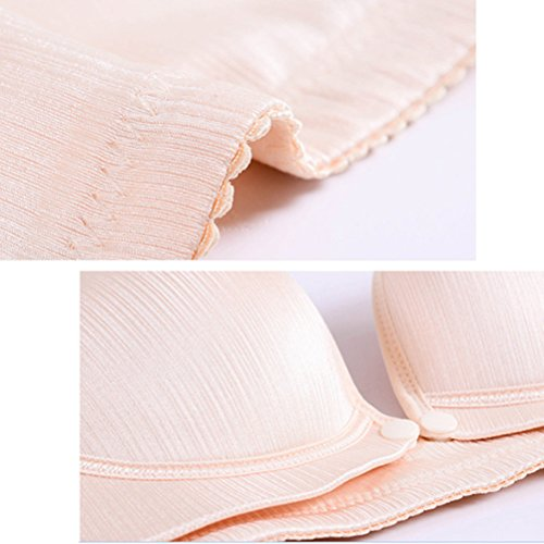 Zhuhaitf Laides Womens Non-wired Breast Feeding Bra for Maternity&Pregnant Easy to Breastfeed Confortevole Beige