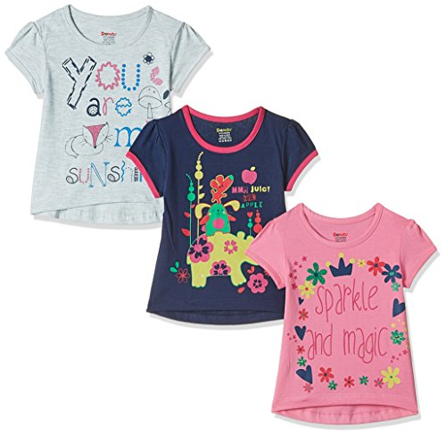Donuts Baby Girls' T-Shirt (Pack of 3) (272516676_Assorted_12M)