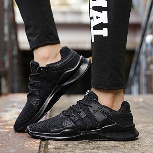 NEOKER Scarpe da GinnasticaBasse Donna Uomo Sneaker Running Tennis Sportive Shoes Nero 36-46 nero-1