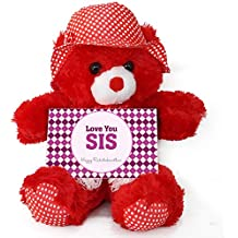 Tied Ribbons Teddy Bear With Greeting Card