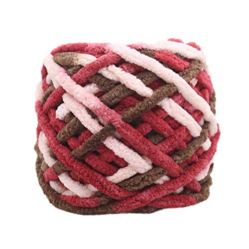 Huihong 100 gramm schrumpfungsfest Kammgarn Super Weiche Glatte Naturseide Wolle Garn Stricken Pullover Stricken Chenille Garn (N-38) (Stricken Garn Kammgarn)