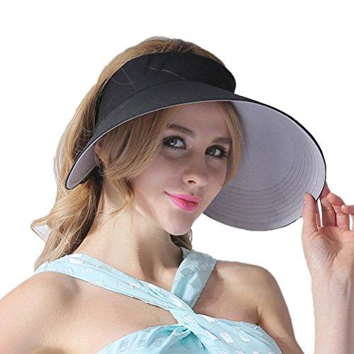 CACUSS Sonnenblende - Sommer Sport Schatten Kappe Sonnenhut Sonnenschild Visor mit Klettverschluss für Damen