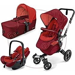 Concord - Coche de paseo trío neo mobility set rojo