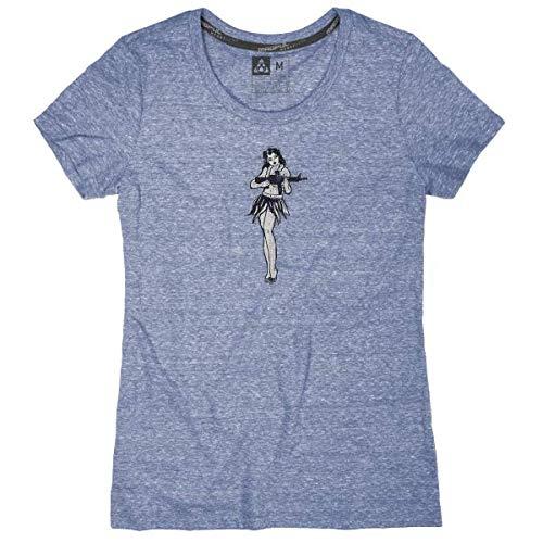 Damen Basic Crewneck Tee (Magpul Damen Megablend Women's Crew-Neck Hula Girl T-Shirt kurzärmelig, Night Heather, X-Small)