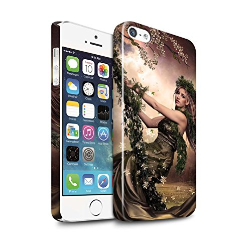 Officiel Elena Dudina Coque / Clipser Brillant Etui pour Apple iPhone 5/5S / Pack 15pcs Design / Un avec la Nature Collection Balançoire Jardin