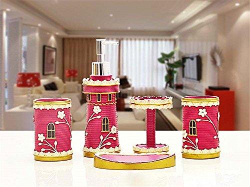 MIAORUI cinq pièces de décoration toilettes / european modern toilettes toilettes / résine toilettes suite home furnishing don