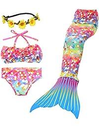 Brillant Shell Design sirene Maillot de Bain Style filles Confortable Bikini Livraison gratuite Belle Couronne (Pas d'ailerons)
