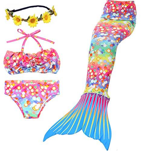 ONMET Baby Kinder Floatinganzug mit abnehmbarer Float Verstellbarer einteiligen Badebekleidung Auftrieb für Mädchen Jungen Alter 4-10Jahre Kleinkinder Swimtrainer (XXL(11-13), Regenbogen)