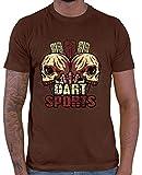 HARIZ  Herren T-Shirt Dart Sport TotenkopfI In Scheibe Dart Sprüche Dartscheibe Weltmeisterschaft Plus Geschenkkarte Braun M