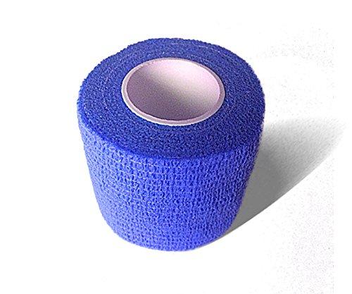 LisaCare Fixierbinde 5cm x 4,5m   2er-Set Farbe Blau   Kohäsive Bandage   Wundverband   Pflasterverband   elastisch, dehnbar, selbsthaftend, ohne Kleber