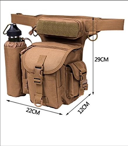 Zll/Multifunktionale Multifunktionell Tactical Leg Herren Leinwand Hüfttasche Licht Outdoor Dedicated Tactical Taschen Khaki