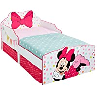 Disney Minnie Mouse Kids Toddler Bed with Underbed Storage by HelloHome