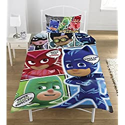 "Disney PJ Masken ""Comic reversibel Panel einzigen Bettbezug"