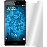 PhoneNatic Case für Huawei Nova Hülle Silikon türkis transparent Cover Nova Tasche + 2 Schutzfolien -