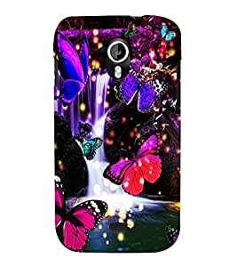 printtech Butterfly Waterfall Back Case Cover for Micromax Canvas HD A116::Micromax Canvas HD Plus A116Q