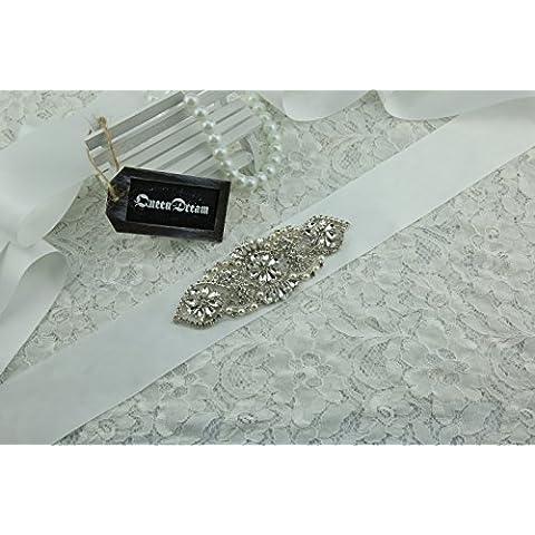 queendream cristallo applique cintura per la cerimonia di fidanzamento naturale