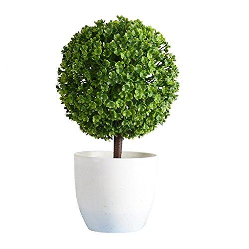 Homyl Künstlich Büro Schreibtisch Bonsai Baum Pflanzetopf Kunstpflanzen Haus Deko - Grün