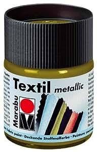 Marabu Textilfarbe Metallic, 50ml Metallic-Graphit