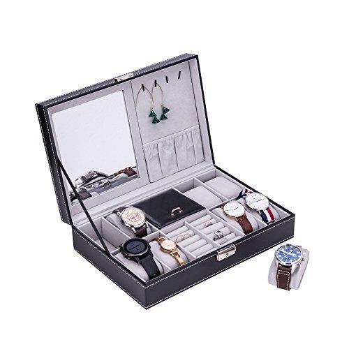 CO-Z Caja Relojes/ Joyas Caja Bloqueable Almacenamiento