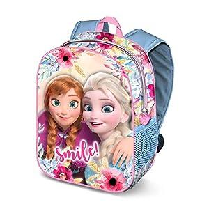 51QHuaGD5vL. SS300  - Karactermania Frozen Smile-Zaino 3D, Mochila Infantil, 31 cm, 8.5 Liters, Multicolor