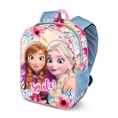 Karactermania Frozen Smile-zaino 3D (Piccolo) Kinder-Rucksack 31 Centimeters 8.5 Mehrfarbig (Multicolour) Anna Cup