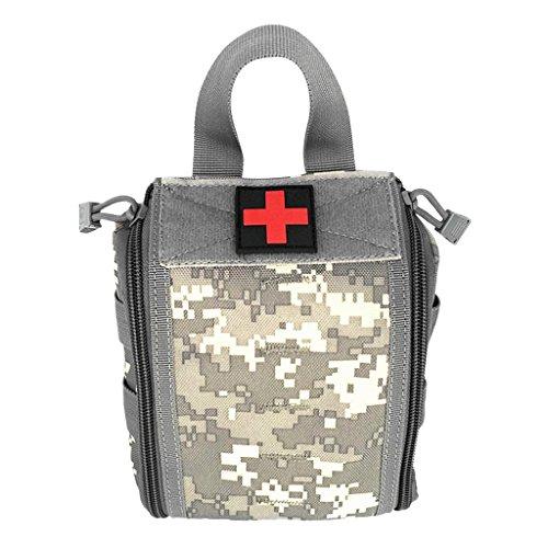 MagiDeal Molle Erste Hilfe Tasche Taktische Medizinische Notfalltasche für Outdoor Sport Reisen Notfall Pack mit Handgriff, Outdoor Handtasche ACU Camo