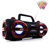 etc-shop Stereoanlage Ghettoblaster CD MP3 Player Bluetooth USB SD mit Puffy Sticker