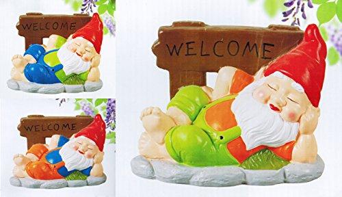 GARTENFIGUR SCHLAFENDE ZWERG Gartenzwerg Garten Gartendeko Dekoration Dekofigur | Garten > Dekoration > Dekofiguren | Eco