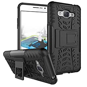 SG Retails Hub Defender Tough Hybrid Armour Shockproof Hard PC + TPU with Kick Stand Rugged Back Case Cover For SAMSUNG J3