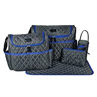 ECOSUSI Classic Messenger Diaper Tote Bag with Changing Pad 5 Pieces Set
