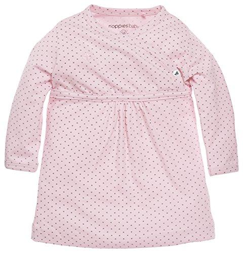 Noppies Baby - Mädchen Kleid G Dress Ls Rianne, Gepunktet, Gr. 50, Rosa (Light Rose C092)