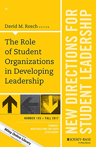 The Role of Student Organizations in Developing Leadership: New Directions for Student Leadership, Number 155 (J-B SL Single Issue Student Leadership) (English Edition) - 155 Single