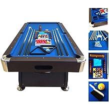 Mesa de billar juegos de billar pool 7 ft modelo BLUE SEA Medición de 188 X 96 cm carambola FULL Nuevo embalado disponible