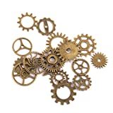 Steampunk Gears Charms Jewellery Making Findings Pack of 17 Bronze