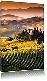 Wunderschöne Toskana Landschaft , Format: 60x80 auf hochkantiges Leinwand, XXL riesige Bilder fertig gerahmt mit Keilrahmen, Kunstdruck auf Wandbild mit Rahmen, günstiger als Gemälde oder Ölbild, kein Poster oder Plakat