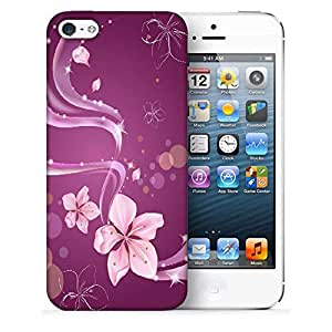 Snoogg Abstract Flower Designer Protective Phone Back Case Cover For Apple Iphone 5