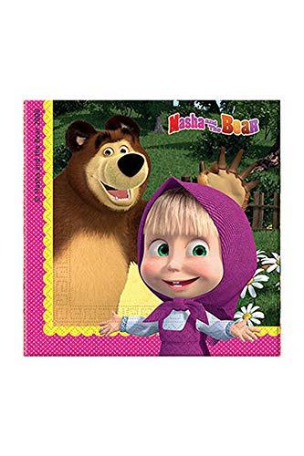 schirr Masha und der Bär, Servietten, One Size ()