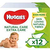 Huggies Natural care, Baby-Feuchttücher, 12 Packungen