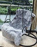 XinlanStyles Kunstfell-Teppich, 80 x 150 cm, weicher, Flauschiger Zottelteppich, Kunstfell, für Wohnzimmer, Schlafzimmer, Schminktisch Dekor, grau, 80 * 150 cm