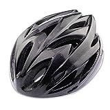 LuuBoes Sport Sicherheits Schutzhelm Mountainbike Helm, 18 Belüftungsöffnungen, bequem, leicht, atmungsaktiv für Erwachsene, Schwarz