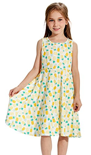 Sleeveless Floral Kleidung Prinzessin Party Kleid Outfits (Die Kleidung)
