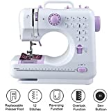 Isabella Mini Desktop Multi Functional Electric Sewing Machine Household Double Stitches Sewing Tools...