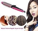 Carechine peigne à cheveux brosser fer à lisser à friser fontion 3 en 1 Styling Outils