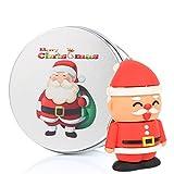 Weihnachten Weihnachtsmann USB Stick Memory Flash Drive Pendrives Kenor USB Flash Sticks mit Metall Geschenkbox für Weihnachten