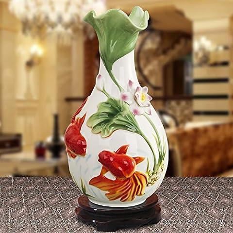 ICeramic Dekoration dekorative Kunst und Kunsthandwerk Geschenke Heimtextilien Heimtextilien dekoratives Blume Porzellan vase Goldfisch